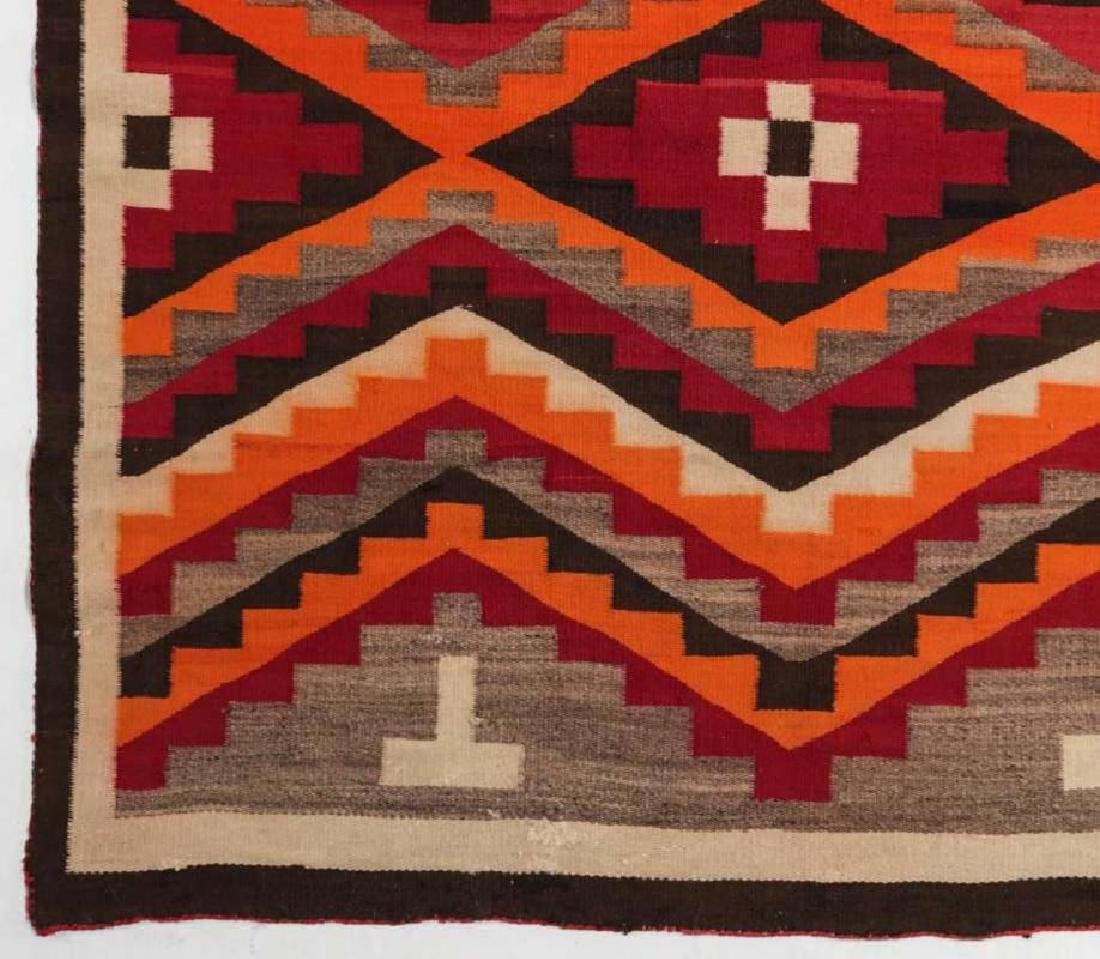 A WESTERN RESERVATION NAVAJO WEAVING - 5