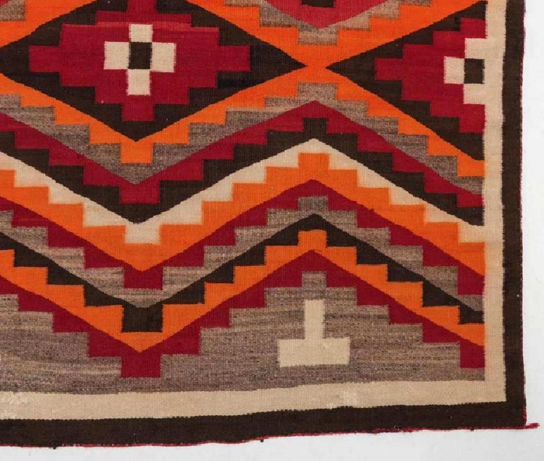 A WESTERN RESERVATION NAVAJO WEAVING - 6