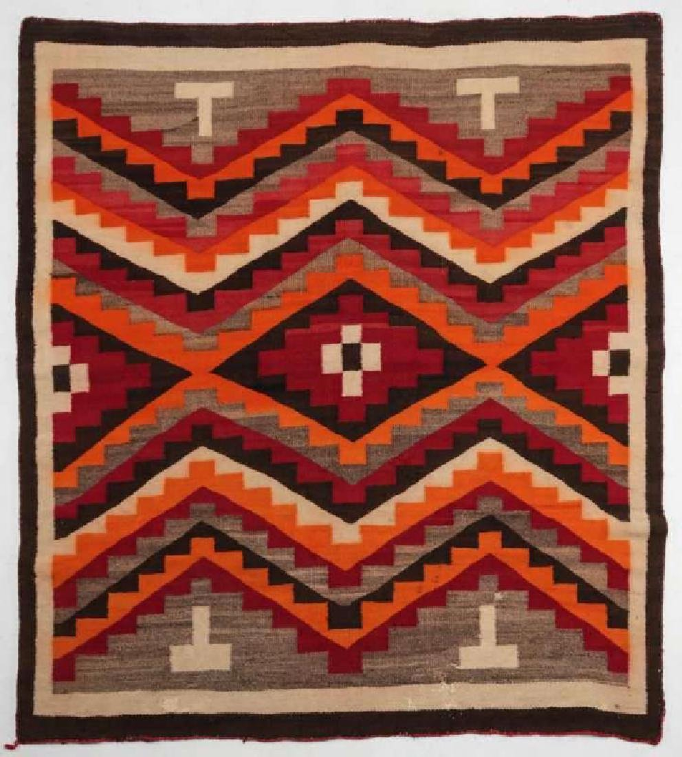 A WESTERN RESERVATION NAVAJO WEAVING - 8