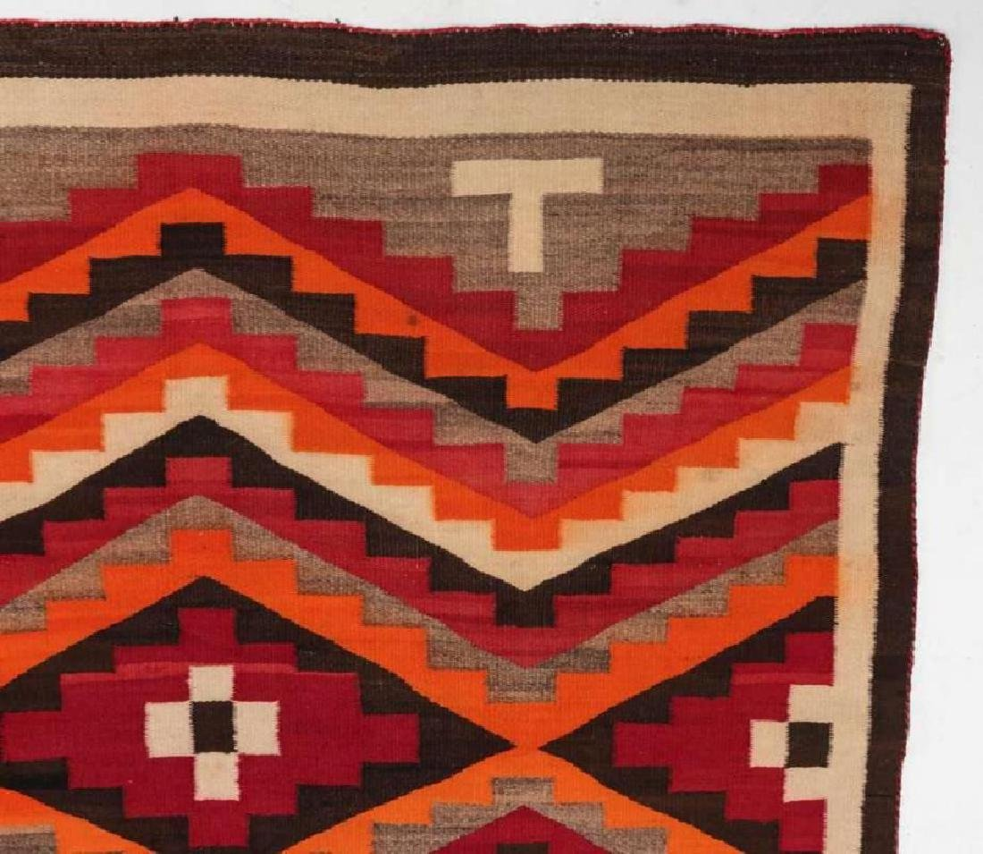 A WESTERN RESERVATION NAVAJO WEAVING - 9
