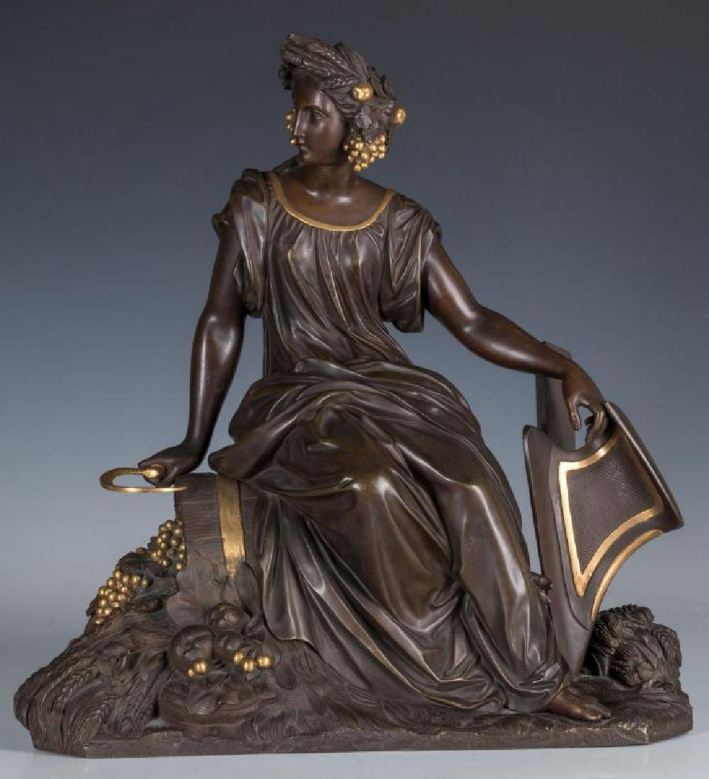 A FINE 19TH C. FRENCH BRONZE ALLEGORICAL   HARVEST