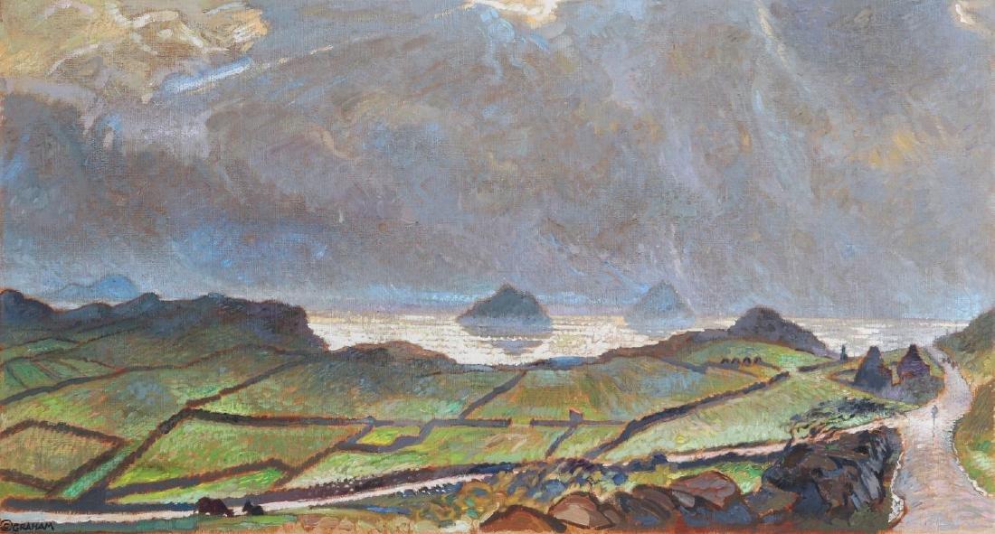 ROBERT MCDONALD GRAHAM (1919 - 2000) ACRYLIC