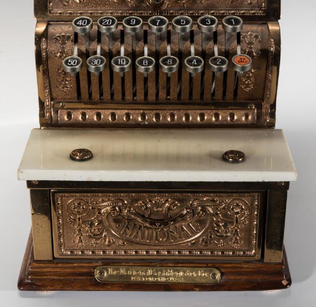 A MODEL 312 NATIONAL CASH REGISTER WITH TOP SIGN - 4