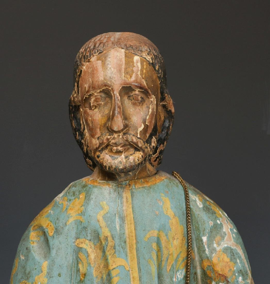A 19TH CENTURY CONTINENTAL SAINT FIGURE - 2