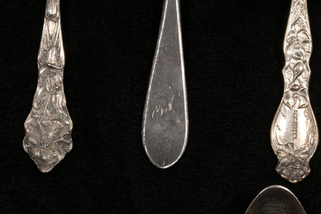 ESTATE LOT OF STERLING SILVER SOUVENIR SPOONS ETC - 5