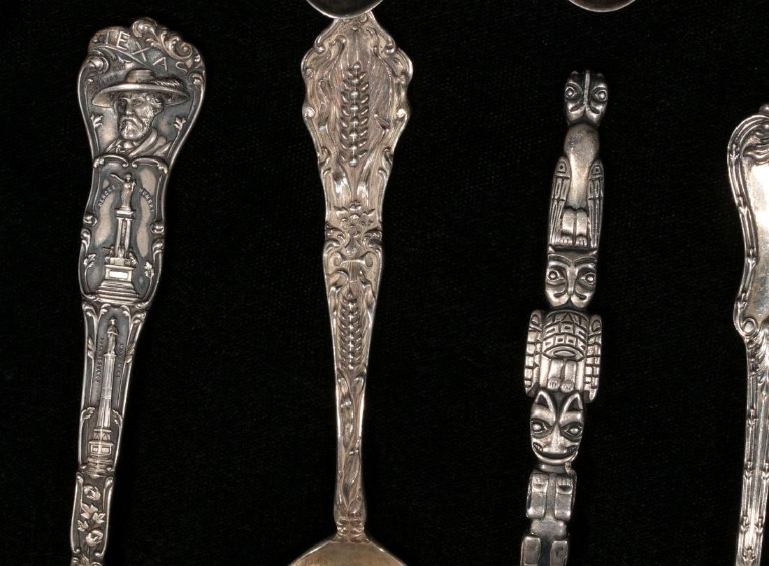 ESTATE LOT OF STERLING SILVER SOUVENIR SPOONS ETC - 8