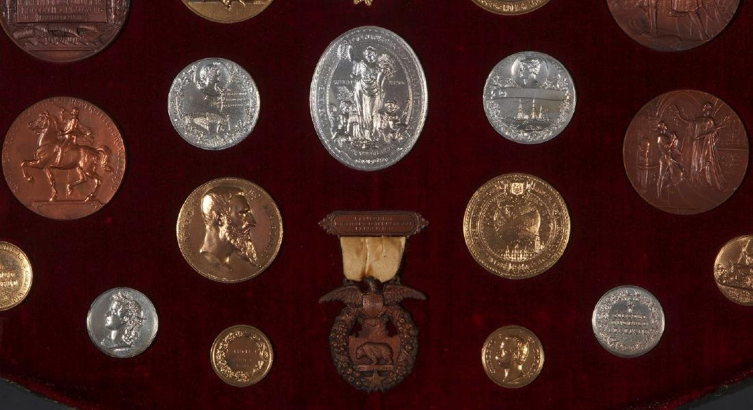 COLLECTION OF REPLICA VINTNER'S EXPOSITION MEDALS - 6