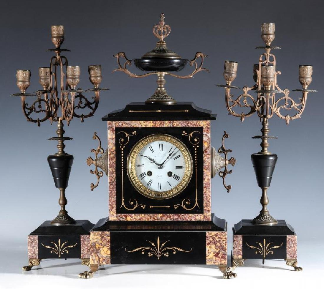 A 19TH CENT FRENCH CLOCK SIGNED A. CHAPUS, PARIS