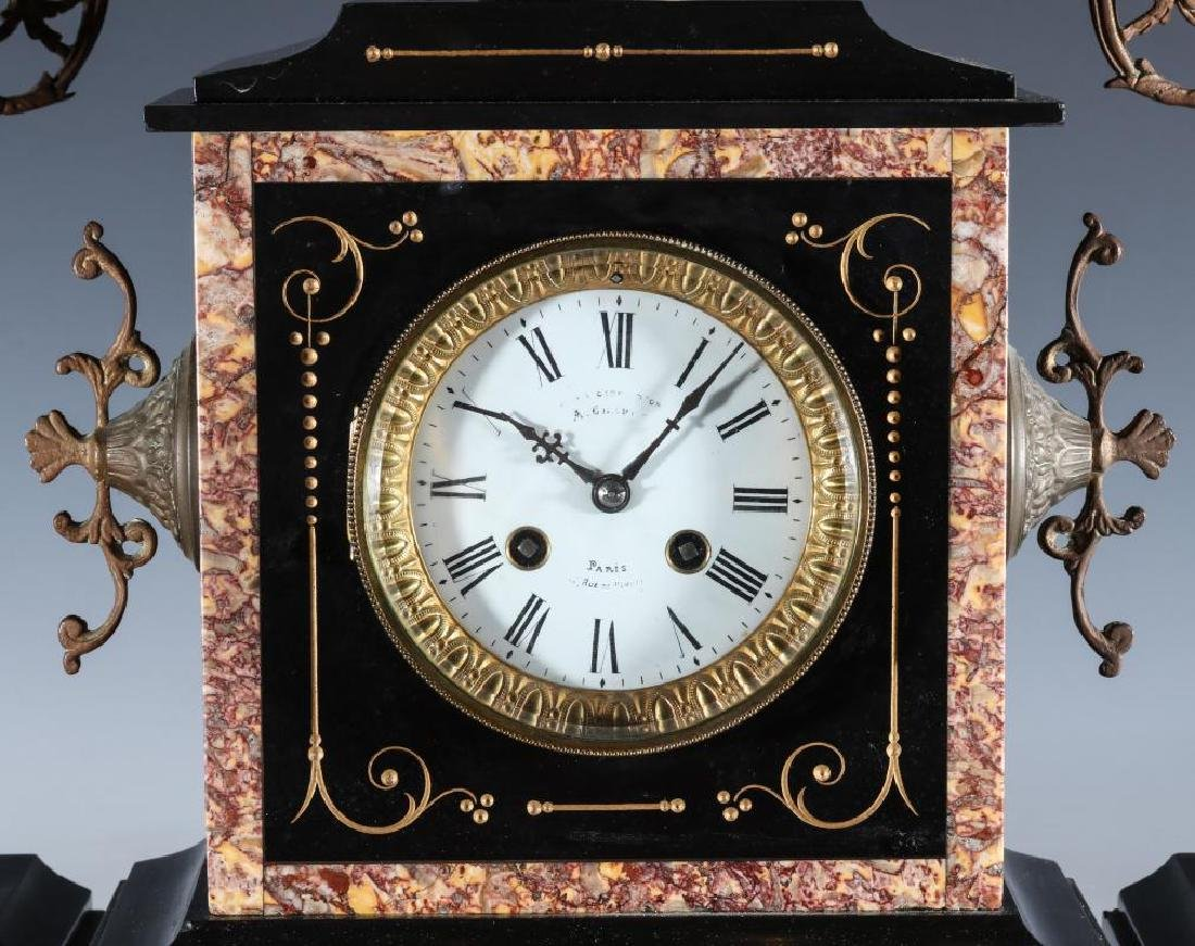 A 19TH CENT FRENCH CLOCK SIGNED A. CHAPUS, PARIS - 3