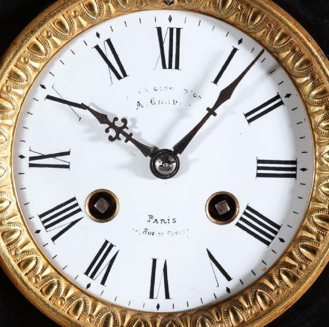 A 19TH CENT FRENCH CLOCK SIGNED A. CHAPUS, PARIS - 7