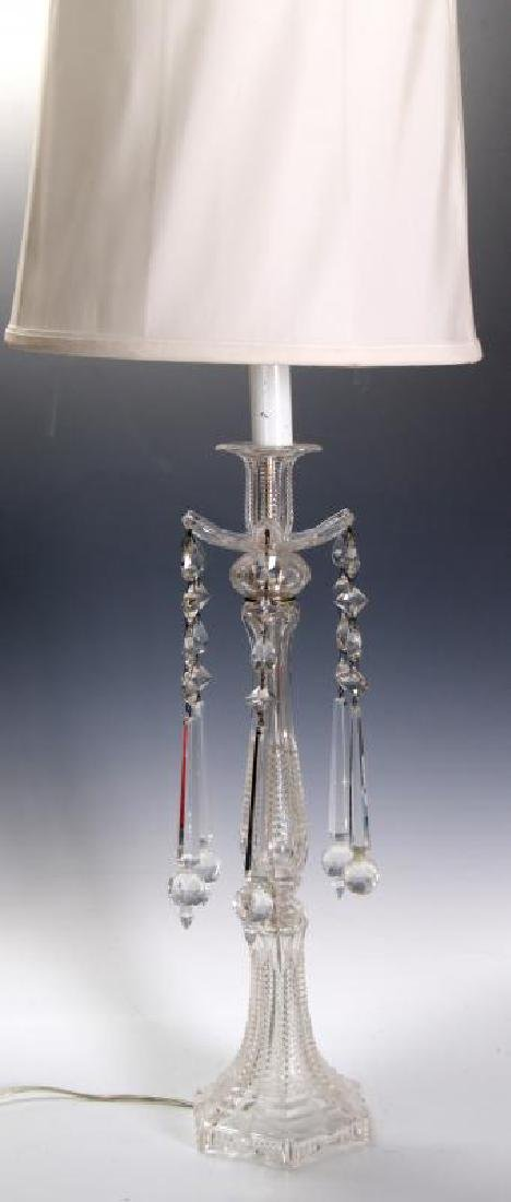 MAJORLY CUT CRYSTAL CANDLESTICK TABLE LAMPS - 2