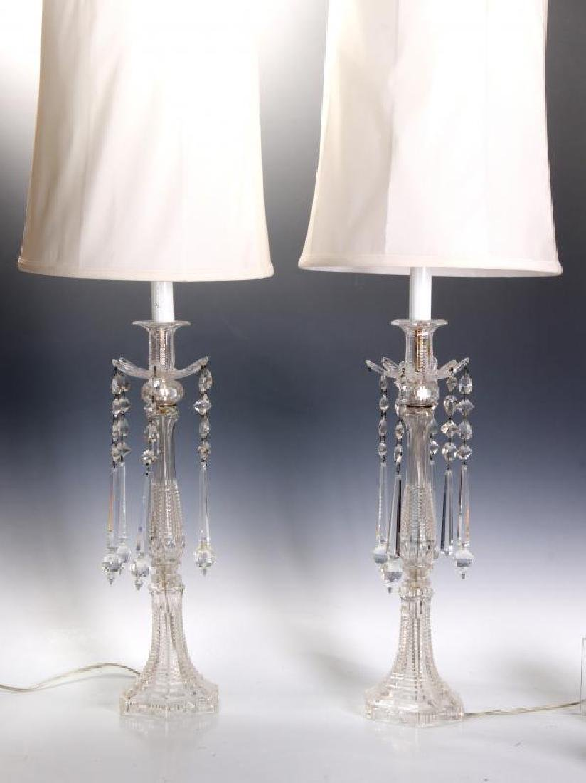 MAJORLY CUT CRYSTAL CANDLESTICK TABLE LAMPS - 4