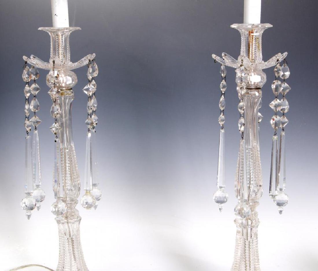 MAJORLY CUT CRYSTAL CANDLESTICK TABLE LAMPS - 5
