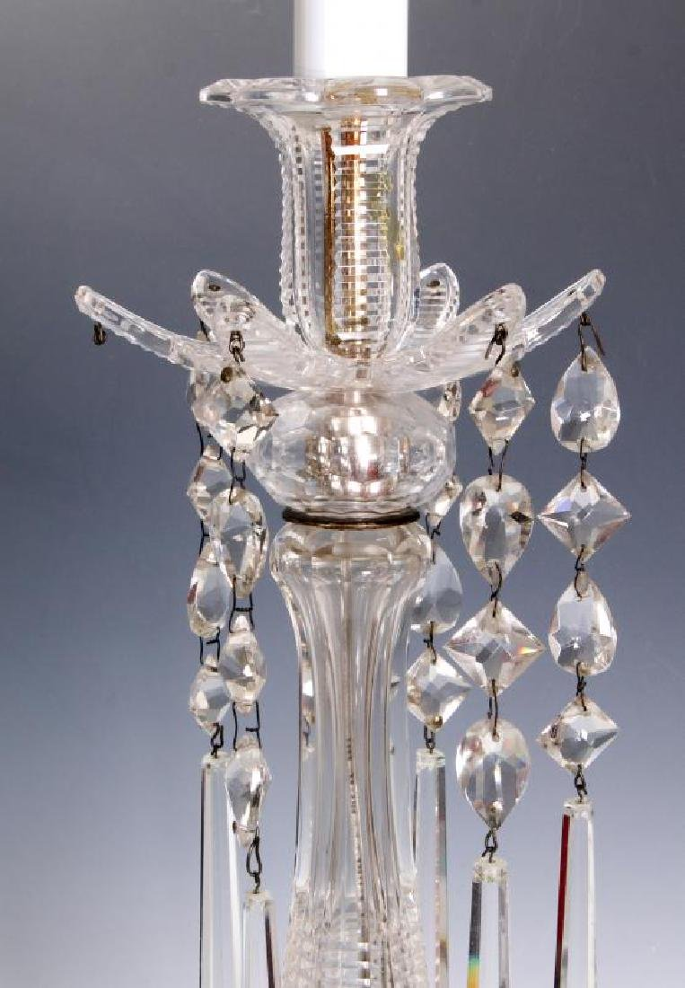 MAJORLY CUT CRYSTAL CANDLESTICK TABLE LAMPS - 6