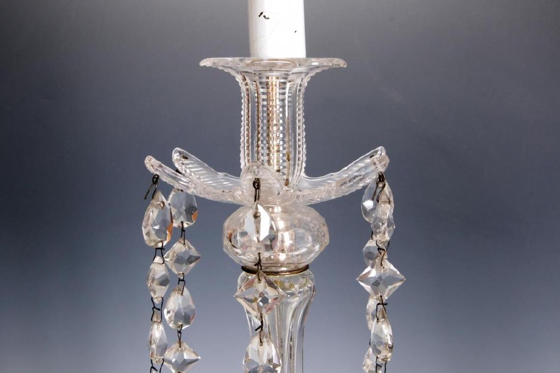 MAJORLY CUT CRYSTAL CANDLESTICK TABLE LAMPS - 8