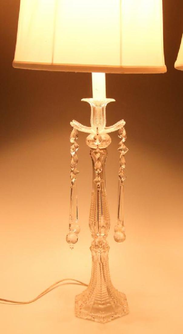 MAJORLY CUT CRYSTAL CANDLESTICK TABLE LAMPS - 9