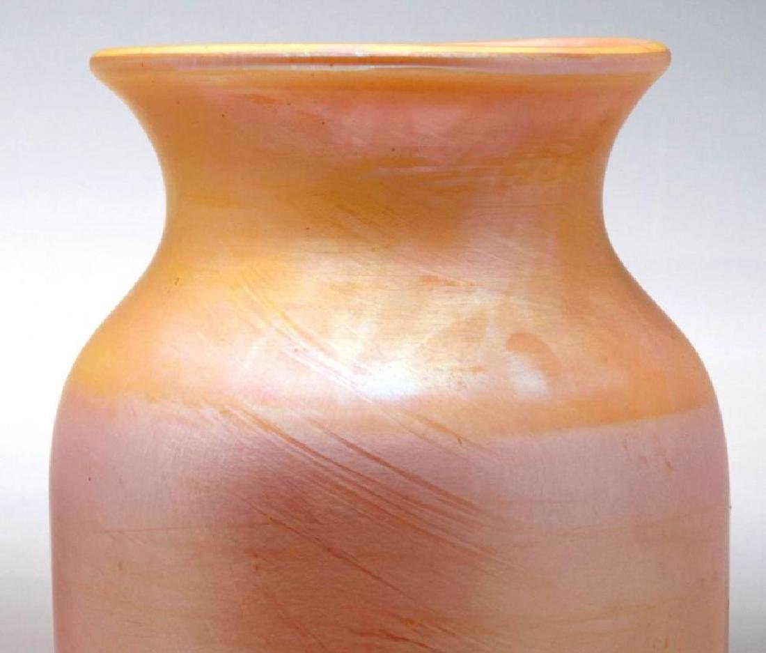 ATTRIBUTED DURAND GOLD IRIDESCENT VASE, 10 INCHES - 3