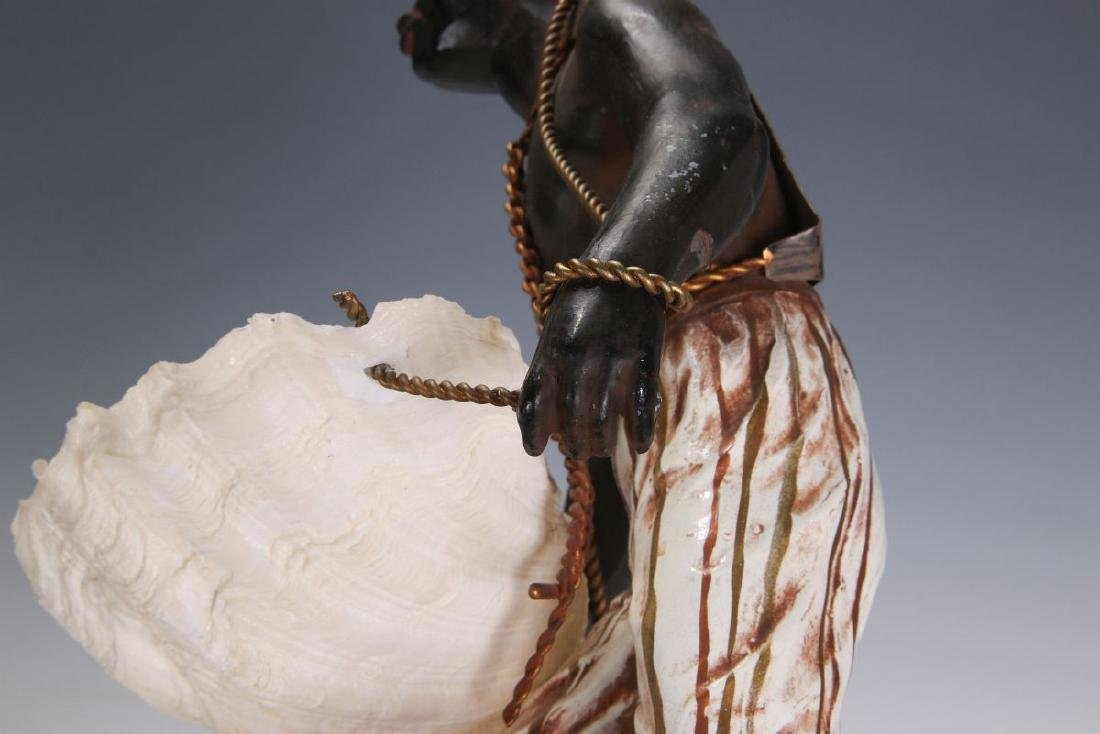 A MID 20TH C. FRENCH CAST METAL BLACKAMOOR FIGURE - 10