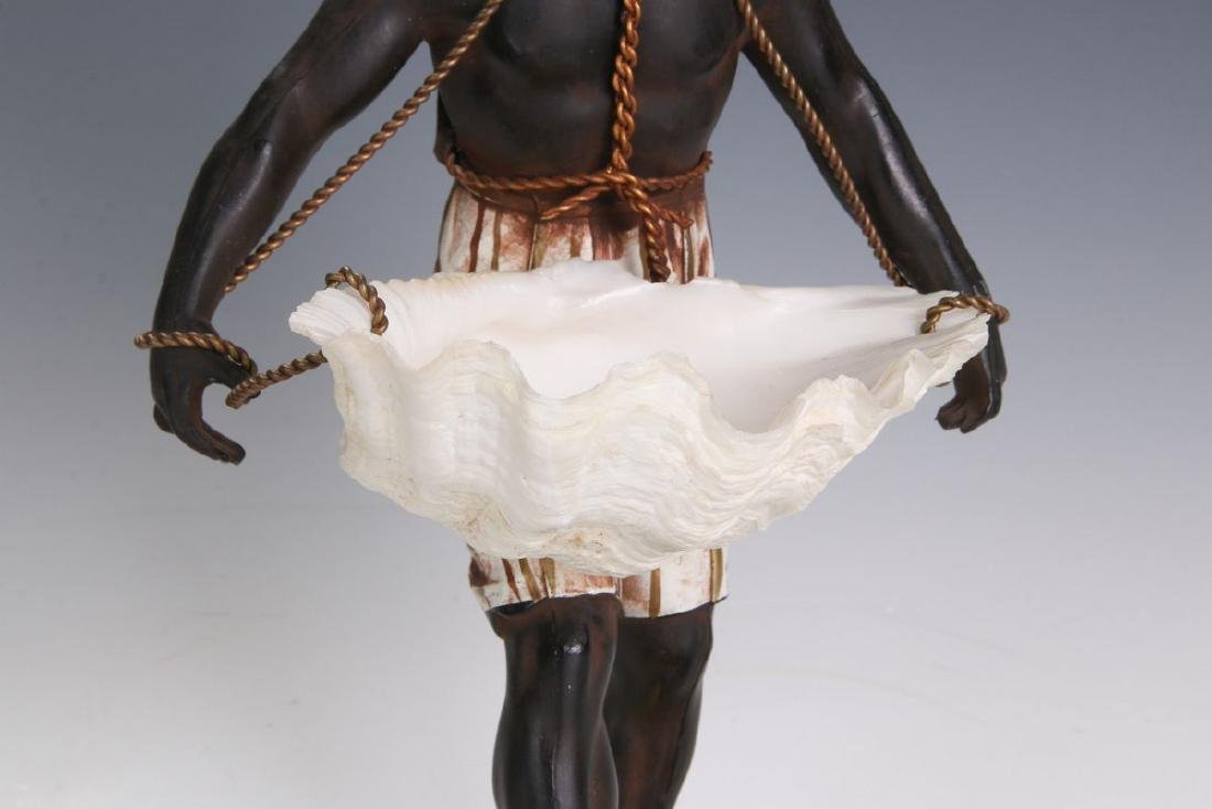 A MID 20TH C. FRENCH CAST METAL BLACKAMOOR FIGURE - 3