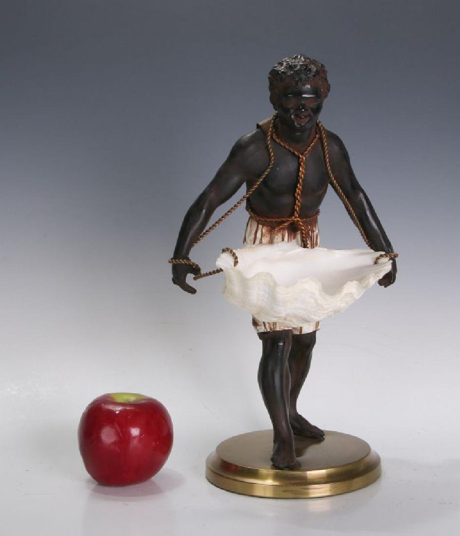 A MID 20TH C. FRENCH CAST METAL BLACKAMOOR FIGURE - 4