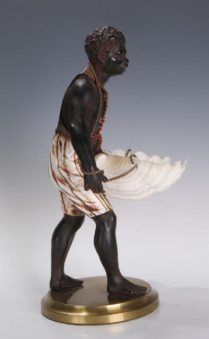 A MID 20TH C. FRENCH CAST METAL BLACKAMOOR FIGURE - 5