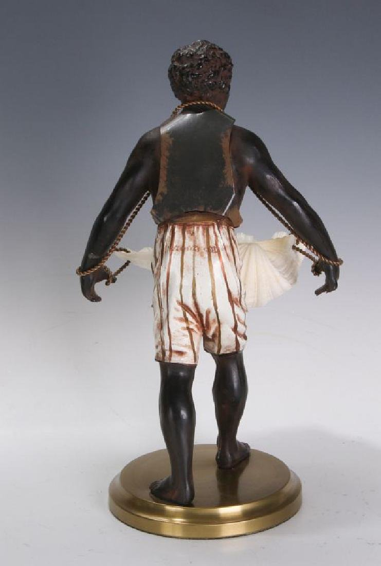 A MID 20TH C. FRENCH CAST METAL BLACKAMOOR FIGURE - 6