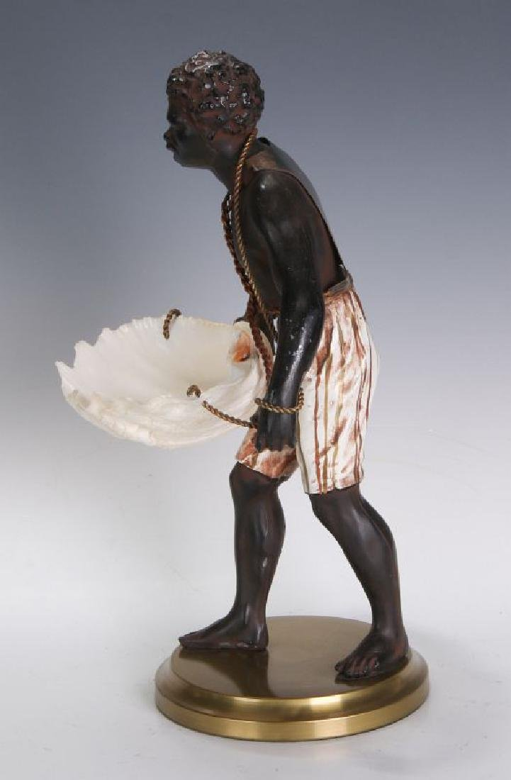 A MID 20TH C. FRENCH CAST METAL BLACKAMOOR FIGURE - 8