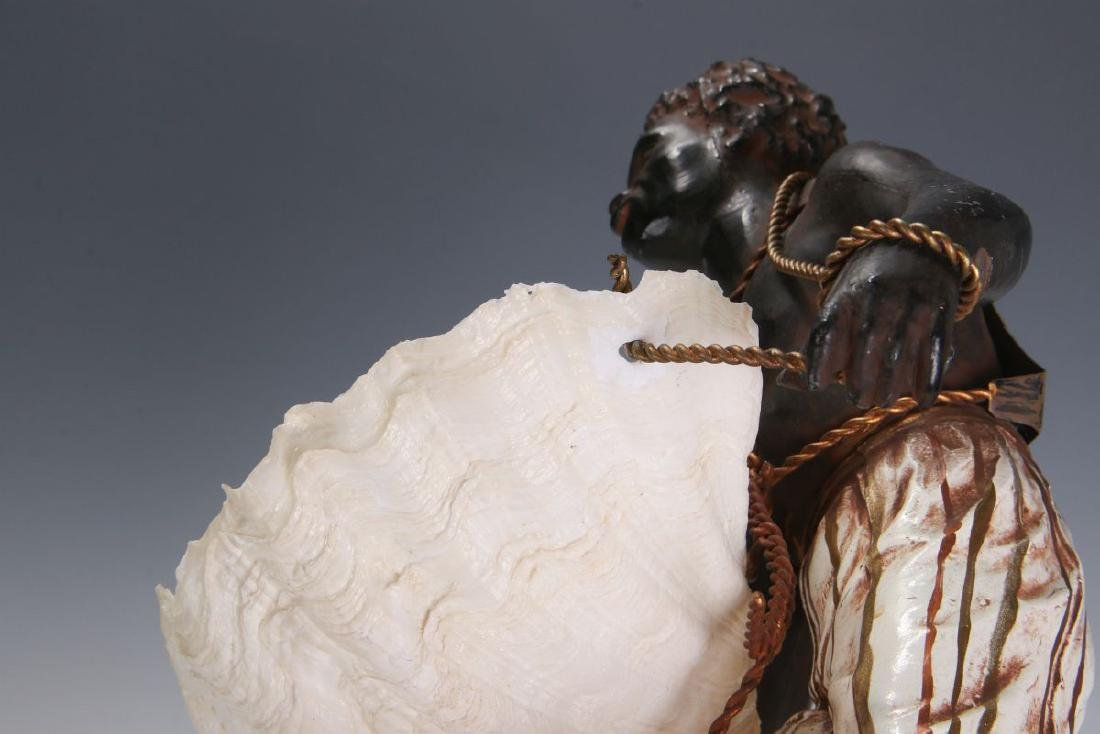 A MID 20TH C. FRENCH CAST METAL BLACKAMOOR FIGURE - 9