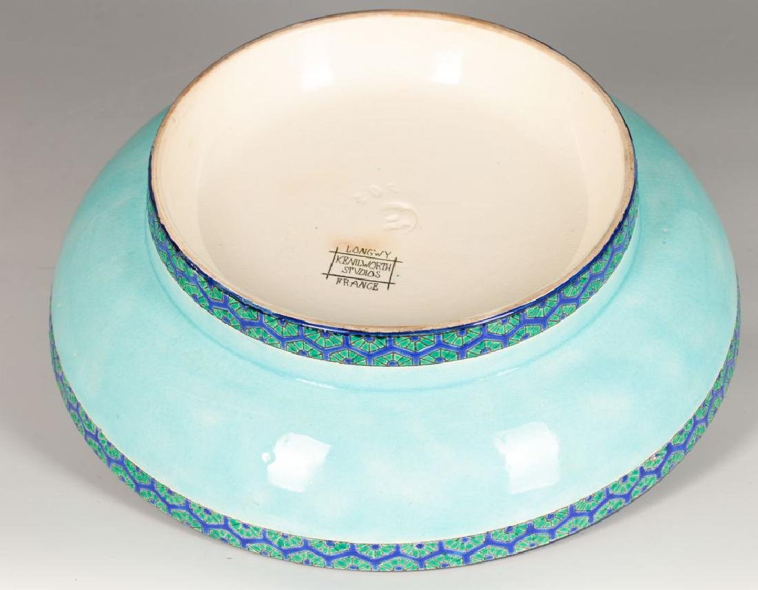 A LONGWY FRENCH ART POTTERY COMPORT CIRCA 1920 - 6