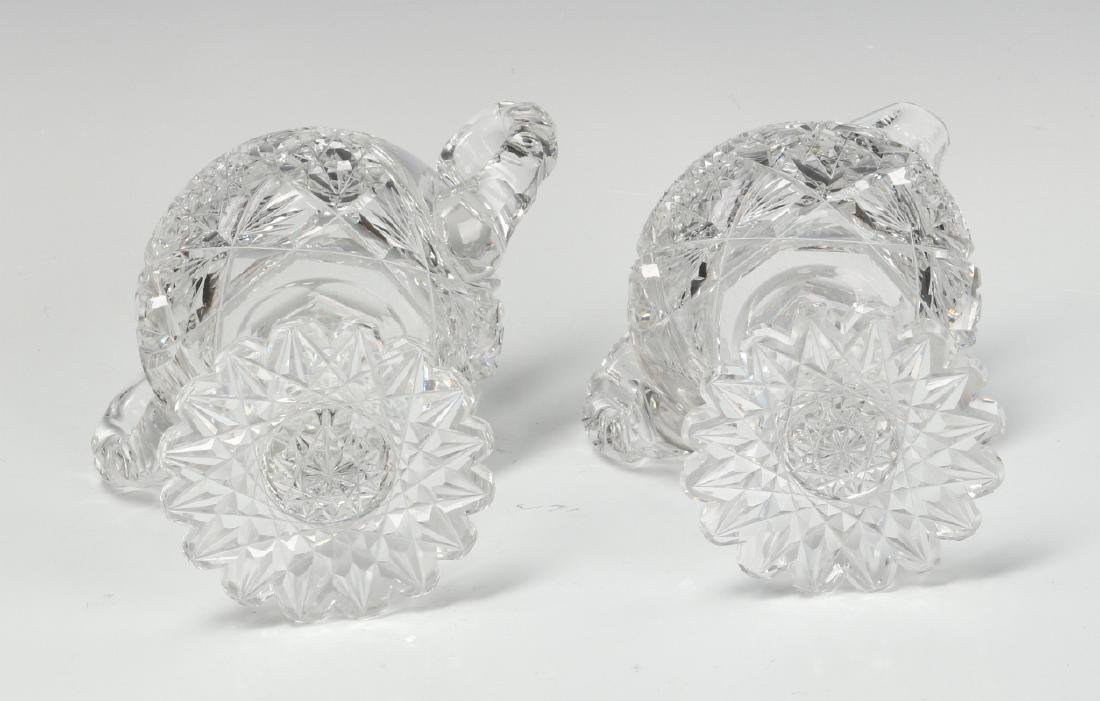ABP CUT GLASS FOOTED CREAMER AND SUGAR WITH BOWL - 9