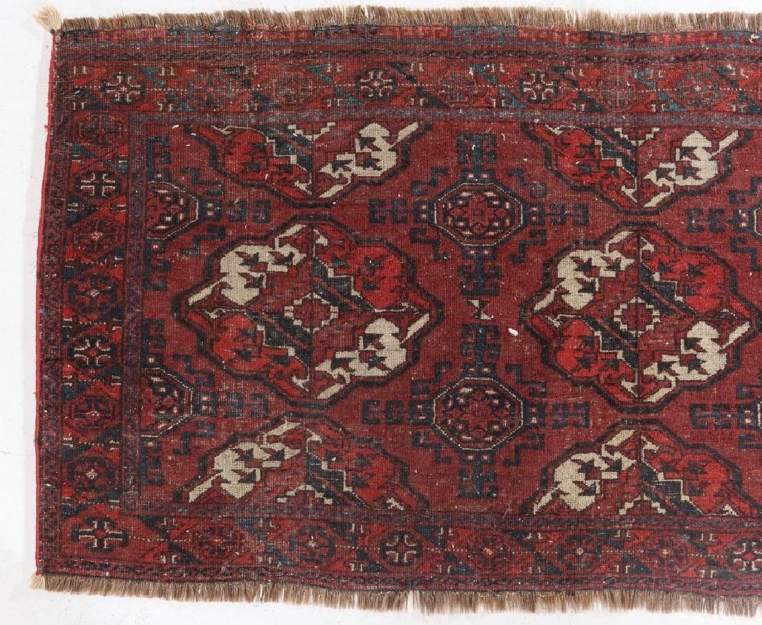AN ANTIQUE HAND MADE ORIENTAL RUG AND BAG FACE - 10