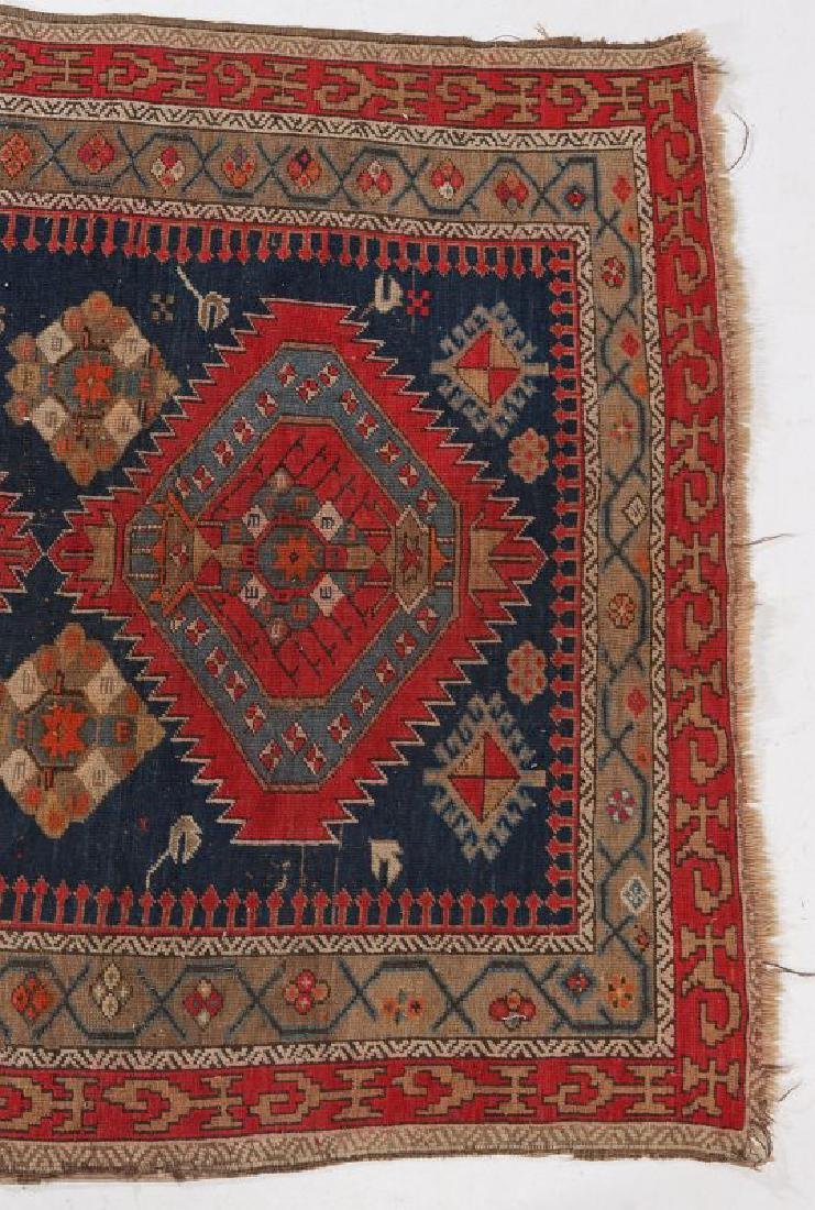 AN ANTIQUE HAND MADE ORIENTAL RUG AND BAG FACE - 2