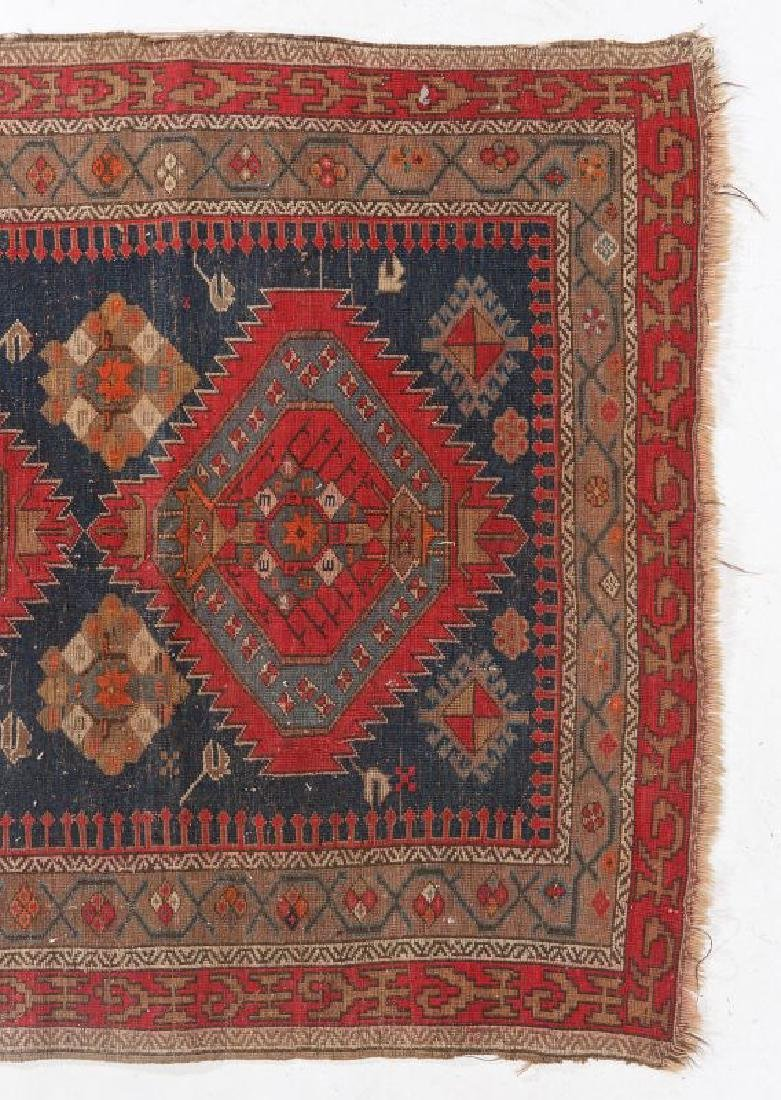 AN ANTIQUE HAND MADE ORIENTAL RUG AND BAG FACE - 5