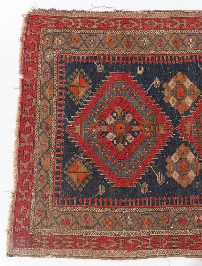 AN ANTIQUE HAND MADE ORIENTAL RUG AND BAG FACE - 6