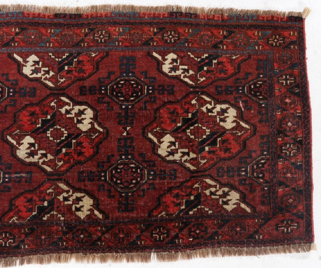 AN ANTIQUE HAND MADE ORIENTAL RUG AND BAG FACE - 8