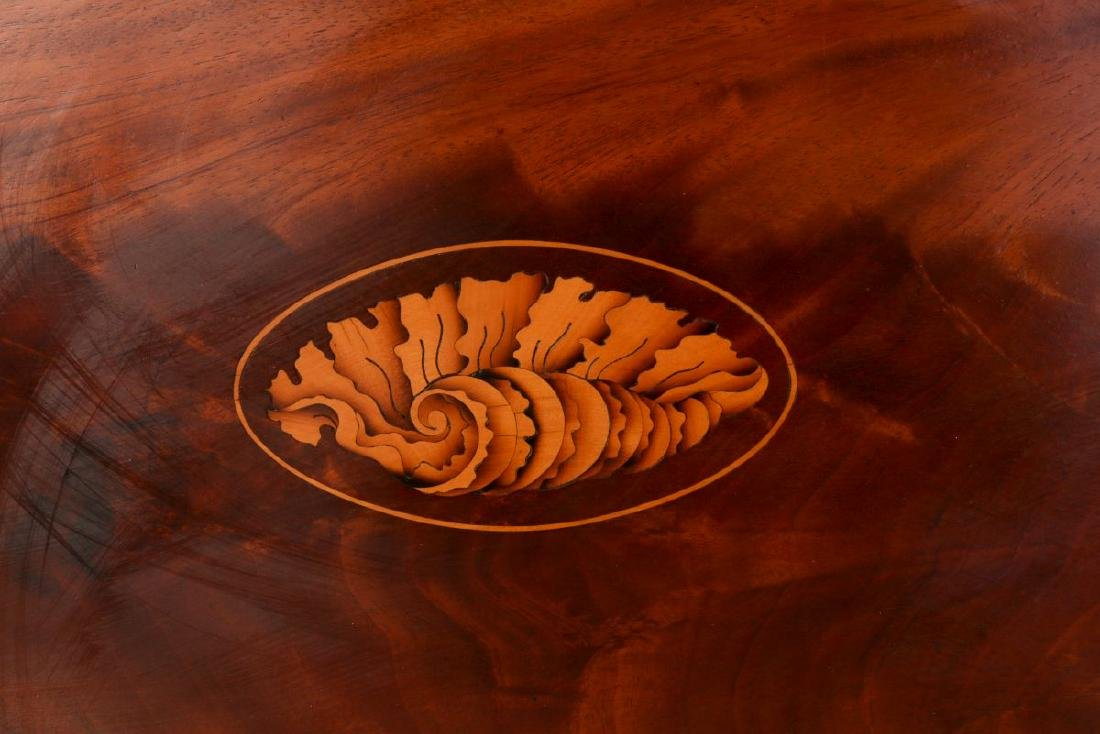 AN EARLY 20TH C COWAN CHICAGO INLAID MAHOGANY TRAY - 2