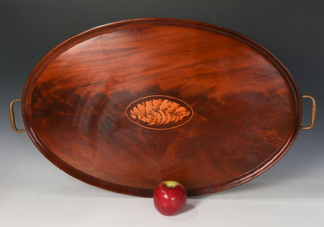AN EARLY 20TH C COWAN CHICAGO INLAID MAHOGANY TRAY - 4