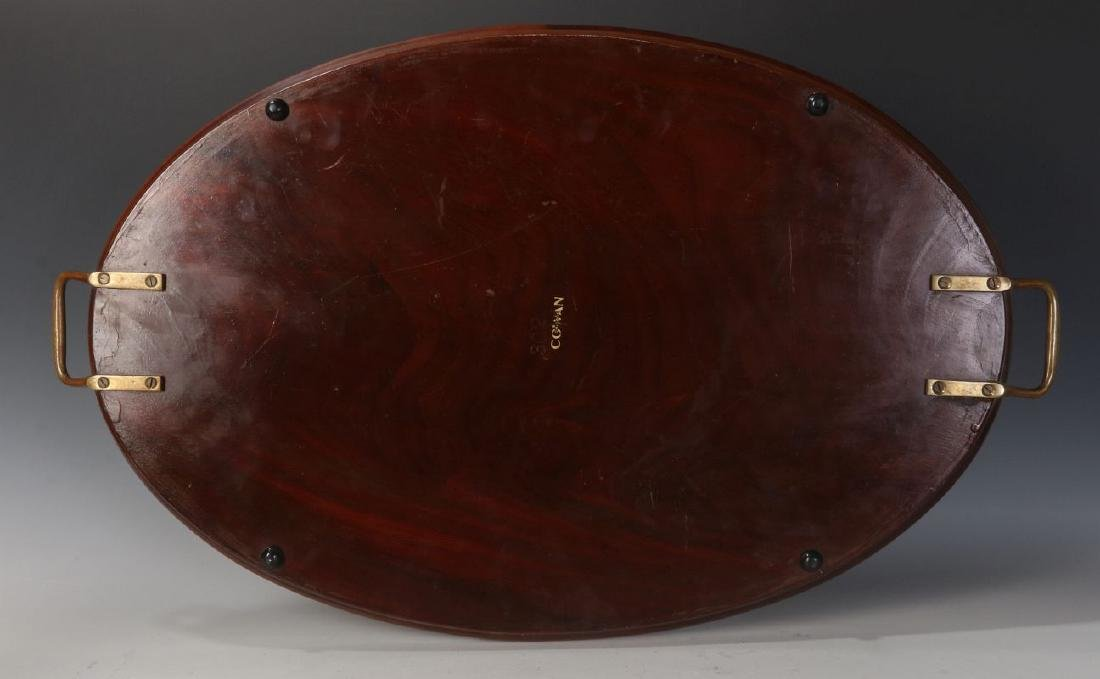 AN EARLY 20TH C COWAN CHICAGO INLAID MAHOGANY TRAY - 5