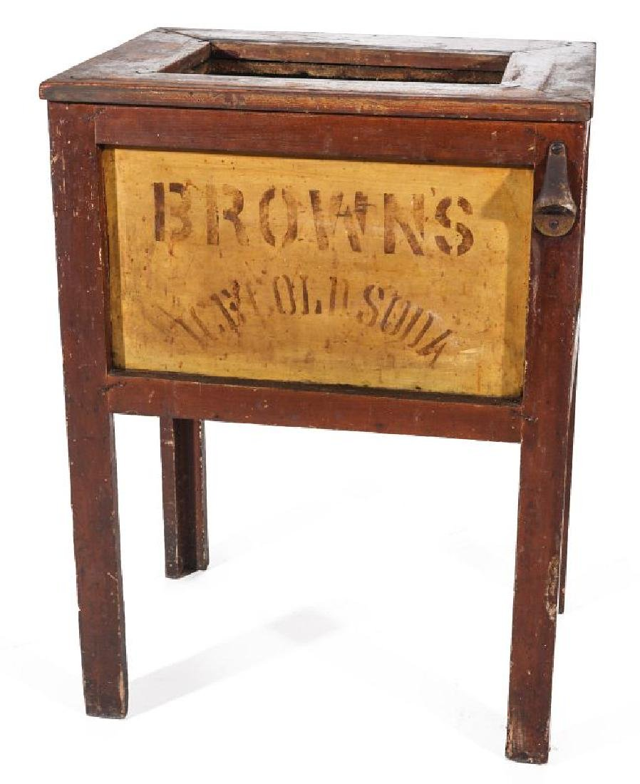 AN EARLY 20TH C AMERICAN COUNTRY STORE POP COOLER