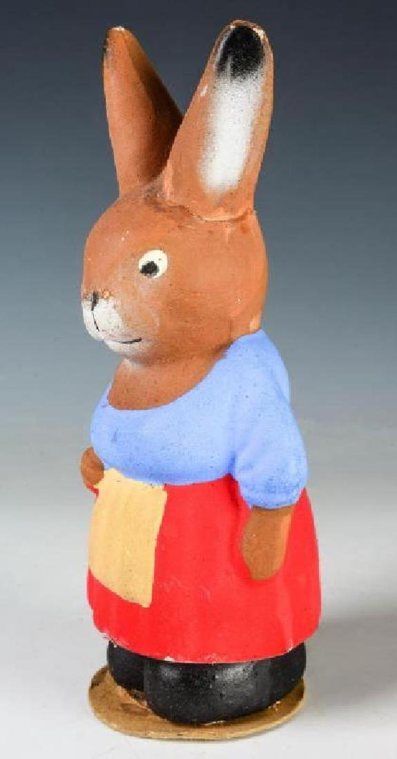 A GERMAN RABBIT COMPOSITION CANDY CONTAINER - 2