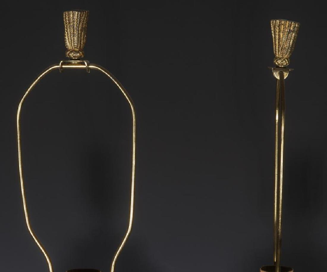 A PAIR EARLY 20TH C. FRENCH SODA BOTTLES AS LAMPS - 2