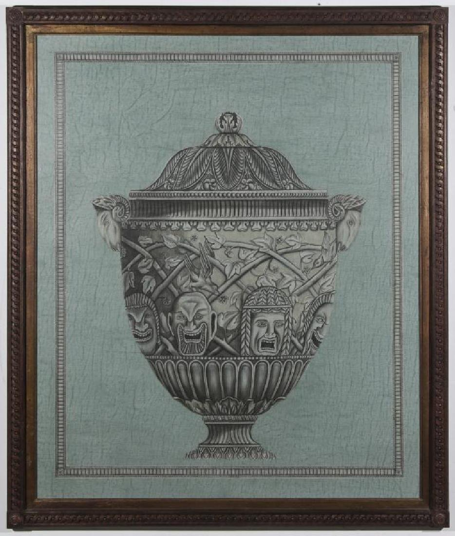20TH C PAINTING OF ARCHITECTURAL URN AFTR PIRANESI - 2