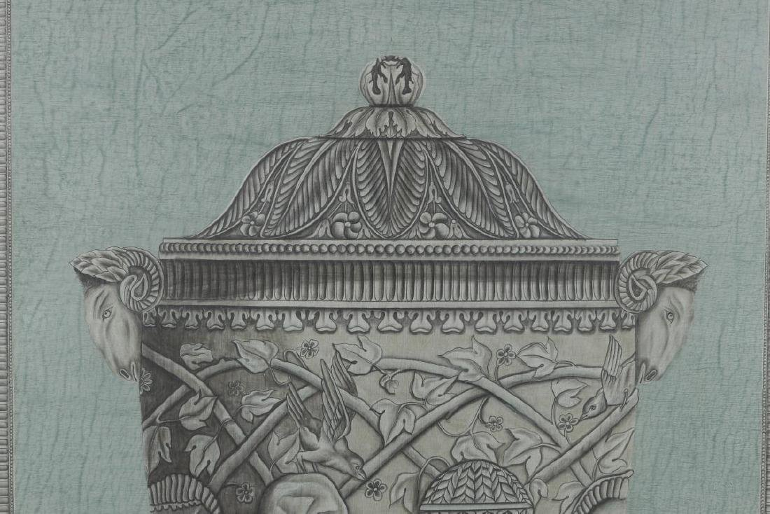 20TH C PAINTING OF ARCHITECTURAL URN AFTR PIRANESI - 3
