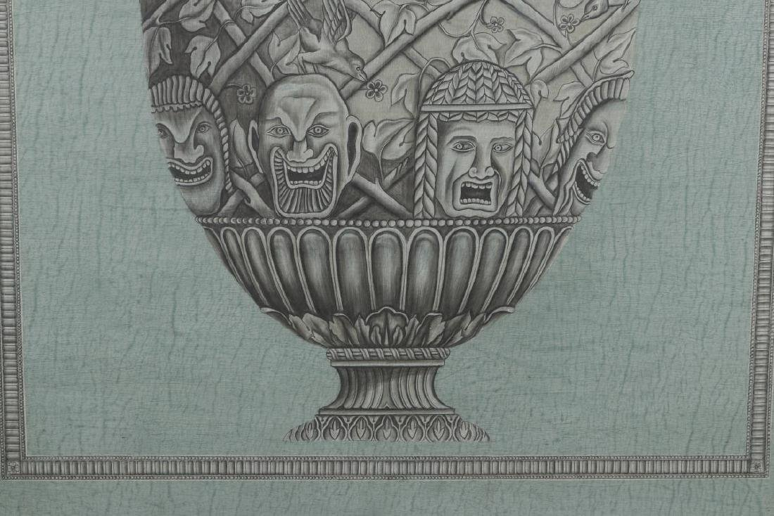20TH C PAINTING OF ARCHITECTURAL URN AFTR PIRANESI - 4