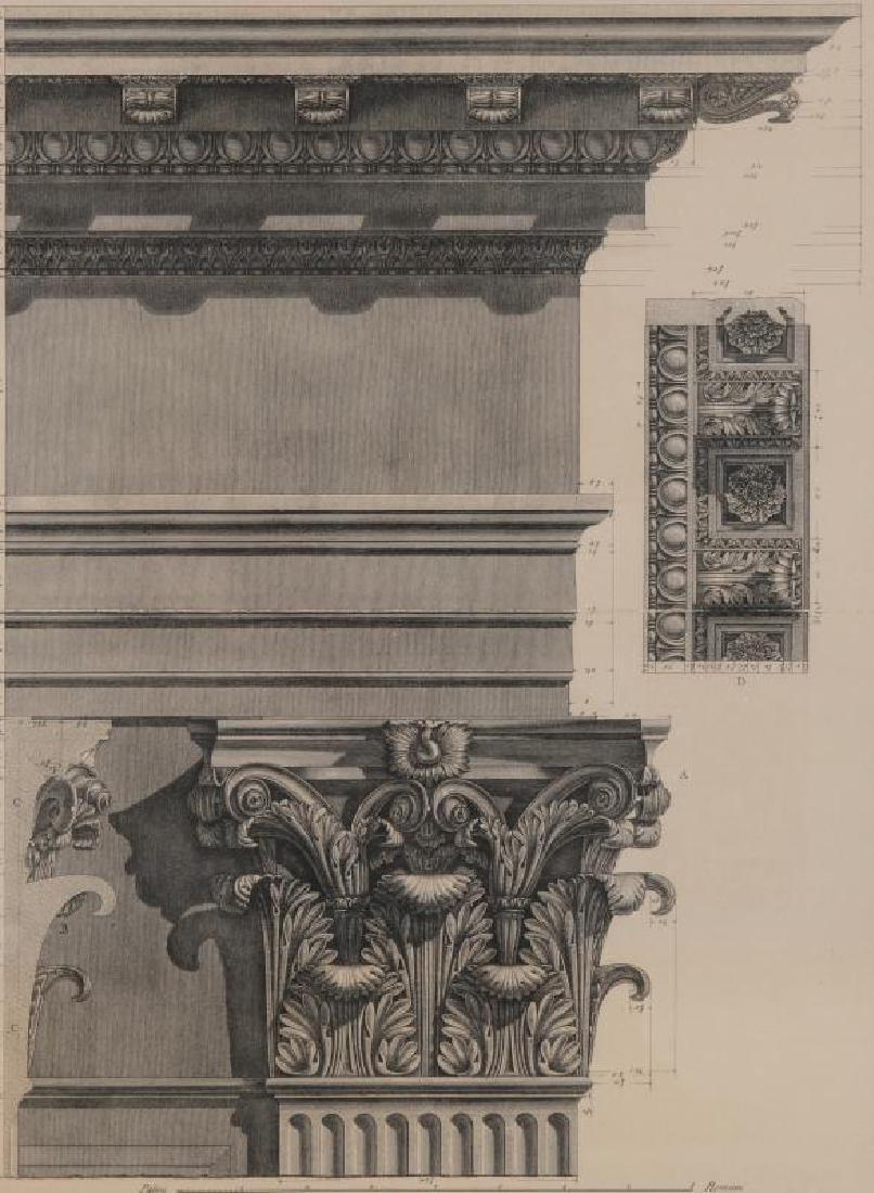 A PRINT AFTER PIRANESI, FRAMED BY THOMAS BRITT
