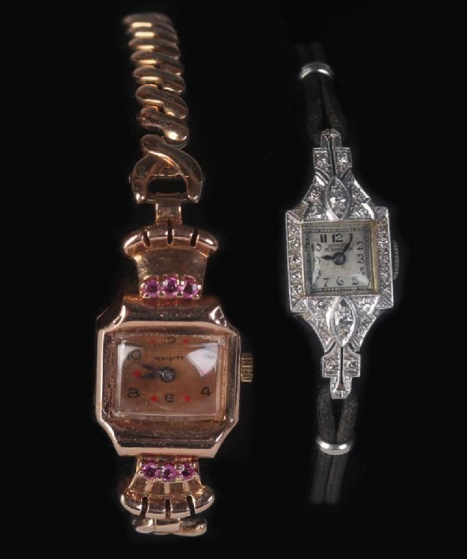 VINTAGE 14K GOLD AND PLATINUM LADIES WATCHES