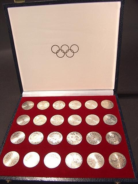 14A: 6 SERIES GERMAN SILVER OLYMPIC COINS MUNICH 1972