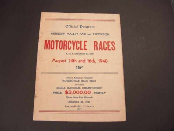 1326: 1940 MOTORCYCLE RACES PROGRAM, ILLINOIS