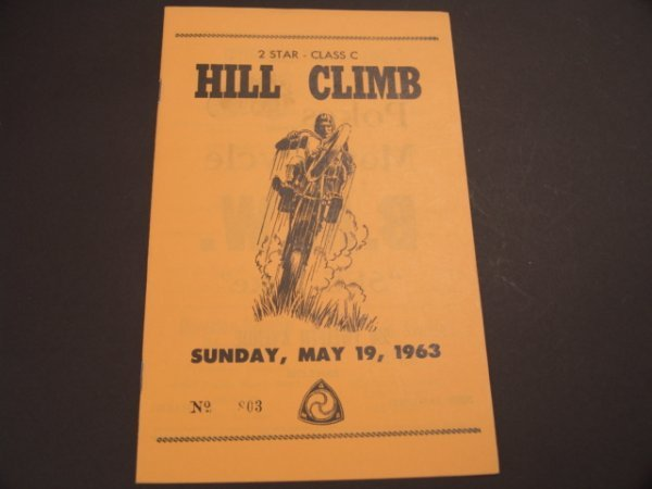 1328: 1963 MOTORCYCLE HILL CLIMB RACE BOOKLET