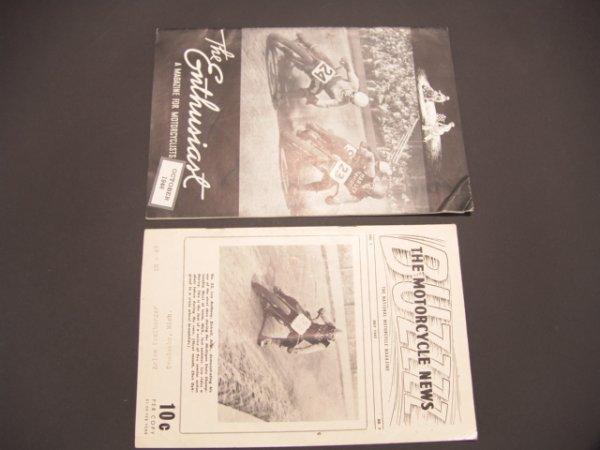 1330: TWO 1940'S  MOTORCYCLE MAGAZINES: ENTHUSIAST & BU
